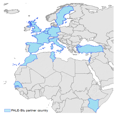 PALE-Blu partner map